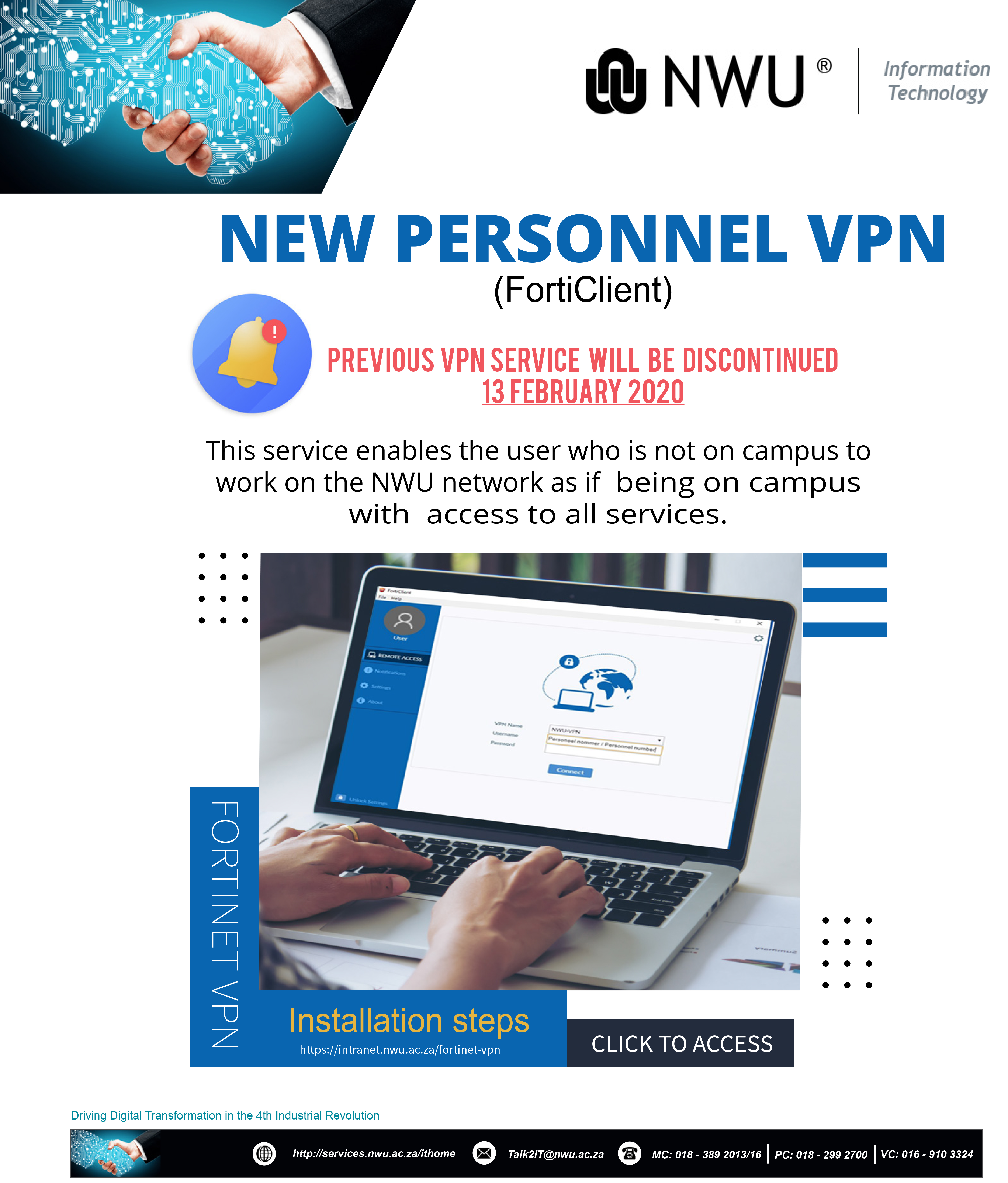 NEW PERSONNEL VPN (FortiClient)